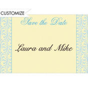 Formal Save-the-Date Custom Thank You Note