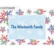 Festive Snowflakes Custom Thank You Note