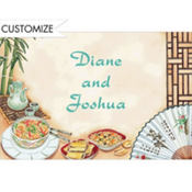 Chinese Dinner Party Custom Thank You Note
