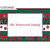 Whimsical Christmas Stripes Custom Thank You Note