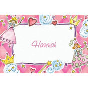 Princess Party Custom Thank You Note