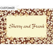 Simple Taupe Floral Custom Thank You Note