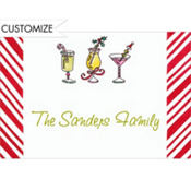 Christmas Cocktails Custom Thank You Note