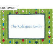 Ornament Stripes Custom Thank You Note