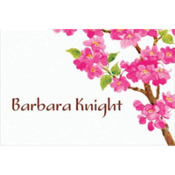 Sweet Cherry Blossoms Custom Thank You Note