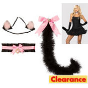 Black and Pink Anime Kitty Kit - Cat