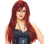 Deluxe Red Long Hair Wig