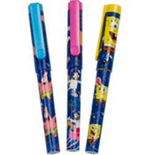 SpongeBob Clip Pen with Rope 3ct
