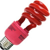 Red CFL Light Bulb 13Watt