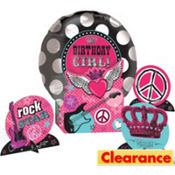 Rocker Girl Balloon Centerpiece Kit 5pc