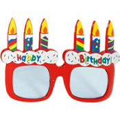 Cake Birthday Glasses