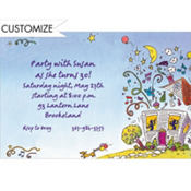 Party House Custom Invitation