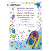 Jukebox Party Custom Invitation