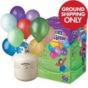 Helium Tank Kit with 50 Latex Balloons