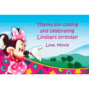 Minnie's Clubhouse Custom Thank You Note