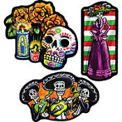 Day of the Dead Cutouts 18in 3ct