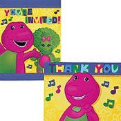 Barney Invitation / Thank You Notes Combo
