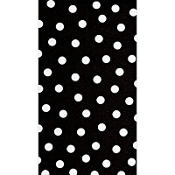 Black Polka Dots Hand Towels 16ct