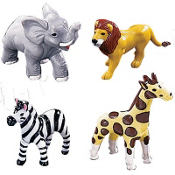 Jungle Animals Cake Toppers 4ct