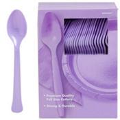 Lavender Premium Plastic Spoons 100ct