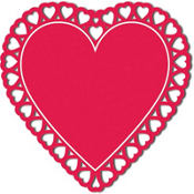 Heart Silhouette Cutout
