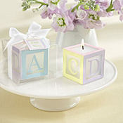 Baby Block Candle Baby Shower Favor