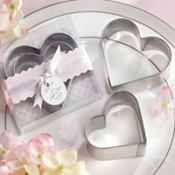 Heart Cookie Cutters Wedding Favor 2ct