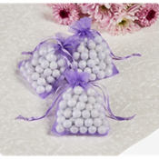 Lavender Organza Wedding Favor Bags 24ct