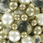 Gold Pearl & Diamond Scatters 8 1/2oz