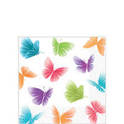 Butterfly Beverage Napkins 5in 16ct