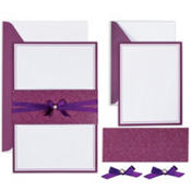 Pearl Flourish Printable Wedding Invitations Kit 25ct