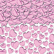 Light Pink Hearts Confetti 2 1/2oz