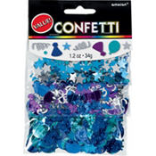 Royal Blue Birthday Confetti