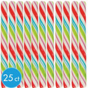 Assorted Pastel Candy Sticks 25ct