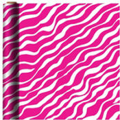 Jumbo Bright Pink Zebra Gift Wrap