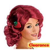 Adult Strawberry Shortcake Wig Deluxe