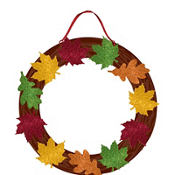 Fall Glitter Wreath 14in