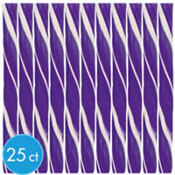 Dark Purple Candy Sticks 25ct