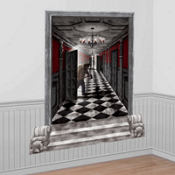 Gothic Mansion Long Hallway Scene Setters 65in