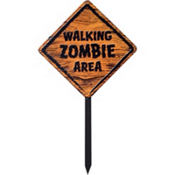 Zombie Warning Sign 36in