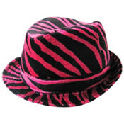 Fuchsia And Black Zebra Hat