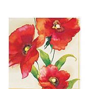 Poppy Cream Lunch Napkins 20ct