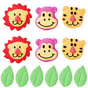 Jungle Pals Icing Decorations 12ct