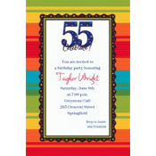 A Year to Celebrate 55 Custom Invitation