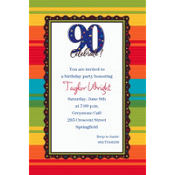 A Year to Celebrate 90 Custom Invitation