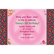 Hippie Chick Custom Invitation