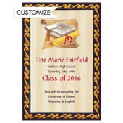 White Grad Portrait Custom Graduation Announcement