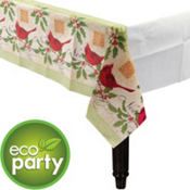 Holiday Tidings Eco-Friendly Paper Table Cover 54in x 102in