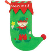 Baby Elf Christmas Stocking 9in
