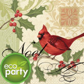 Holiday Tidings Eco-Friendly Dinner Napkins 16ct